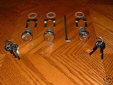 POLISHED Door & Trunk Lock Set  Hurst Olds Cutlass 442 W30 Buick Skylark GS GSX