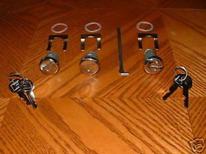 67 68 69 Pontiac Firebird Formula Trans Am T/A Door Trunk Lock Set POLISHED