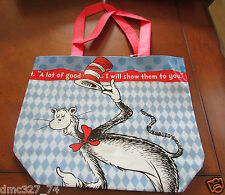 1 Dr Seuss Mini Book Gift Party Favor Treat Reusable Bag Tote Cat In The Hat