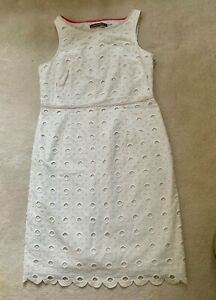 Boden Limited Edition White Eyelet Dress Size 14