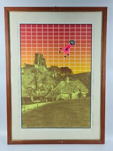 RENATO VOLPINI (1934-2017) Opera grafica Quadro Serigrafia con Cornice 70 x 50