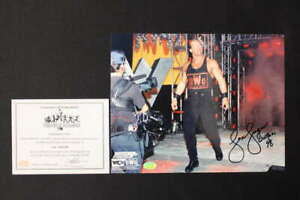 LEX LUGER SIGNED 8X10 PHOTO WOLFPAC 98 INSCRIPTION AUTOGRAPH WCW NWO COA JB832