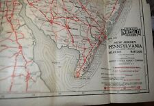 1927 Nufold Road Guide for Pa,De,Md,Large Map,Us Survey Co, Rochester,Ny