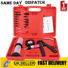 22PCS Hand Held Vacuum Pressure Pump Tester Brake Fluid Bleeder Adapters Set Kit