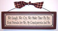 BEST FRIEND GRANDPARENTS signs plaques gift ideas for a grandparent