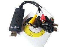 GENUINE EzCAP 168 USB Video Capture Stick 32 & 64 Bit Easycap Record PVR VHS AU