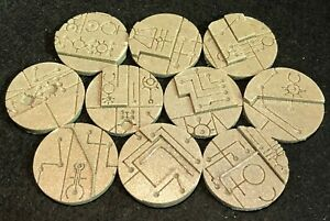 40mm Space Tech resin bases, Qty 5-25 unpainted, by Daemonscape