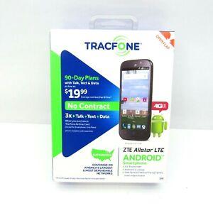New Tracfone ZTE Z818L Allstar LTE Prepaid Andriod Smartphone Black Sealed