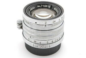 【N MINT+++】Nikon Nikkor H.C 5cm 50mm f/2 L39 LTM Leica L Mount From JAPAN