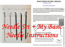 Needle Felting NEEDLES 32, 36T, 36S, 40T, 42T Set + My Basic Needle Instructions