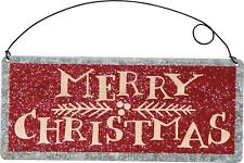 Primitives By Kathy Tin Merry Christmas Sign