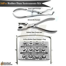 Dental Starter Rubber Dam Clamps Ainsworth Forceps Ivory Tooth Restorative Kit