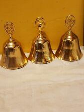 3 Vintage avon bells gold color excellent condition