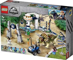 Lego Jurassic World 75937 L'assalto del Triceratopo Nuovo