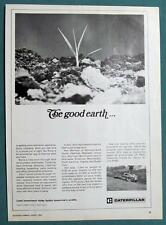 Orig 1970 Caterpillar Tractor Ad Endorsed by Ken Morrison of Hastings Nebraska