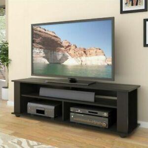 "CorLiving Bakersfield 58"" TV Component Stand in Ravenwood Black"