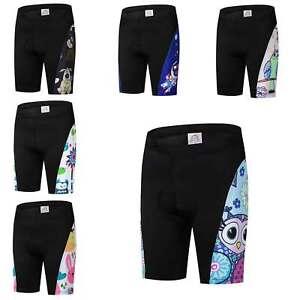 Kids Lycra Cycling Shorts Coolmax Children Padded Bike Cycle Shorts S-XXXL