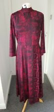 PRINCIPLES Dark Pink Ity Snake Print  Mid/Maxi Dress Size UK 14 EUR 42 BNWT