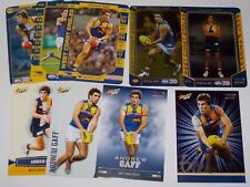 Teamcoach & Select West Coast Andrew Gaff Cards x 9 inc gold,silver,Excel & B&F