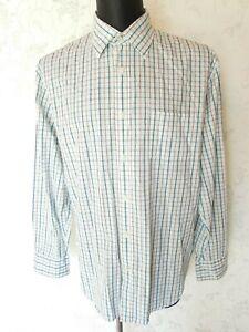 MARC O'POLO White Check Long Sleeve Cotton Shirt Size XXL
