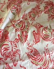 New Zebra Cotton Fabric Red White Material Safari Sewing Art Craft Upholstery T