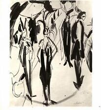 Ernst Ludwig Kirchner: Streetwalkers,1911- Pen Drawing- Bookplate Art Print