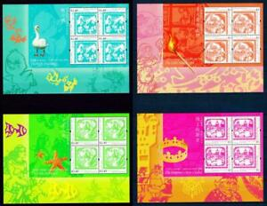 Hongkong 2005 complete sheets of 4 Hans Christian Andersen Tales clean MNH OG VF