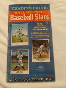 1961 GOLDEN PRESS HALL OF FAME BASEBALL CARD COMPLETE SET IN BOOK Babe Ruth