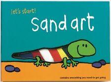 """New - Silver Dolphin 1998 """"Let's Start Sand Art"""" Starter Kit & Instruction Book"""