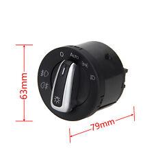Chrome Headlight Switch Control For VW Touran Passat B5 CC B6 3C Jetta Golf MK6