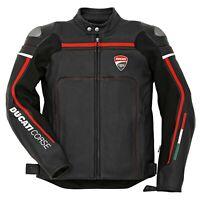 Ducati Corse Black Motorbike Leather Jacket | Ducati Motorcycle Riding Jacket