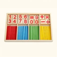 Wooden Montessori Mathematics Material Educational Early Learning Counting Toy