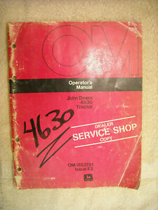 John Deere OM R53781 Issue E2 operators manual 4630 Tractor