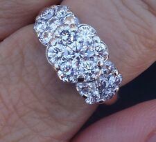 1.8cts G/VS-Si1 Diamond floral past present future engagement ring 14k YG