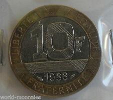 10 francs Génie de la bastille 1988 : TB : pièce de monnaie française