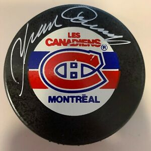 YVAN COURNOYER inscribed  auto MONTREAL CANADIENS signed autographed puck COA