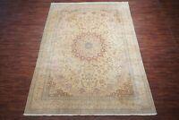 10X13 Wool & Silk Naein Area Rug Vintage Hand-Knotted Carpet 500+ KPSI