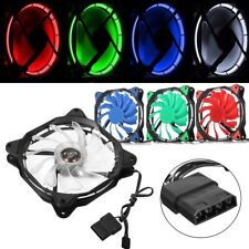 3Pin/4-Pin 4 Color LED Luz 120mm PC Ordenador CPU Ventilador Disipador Calor 12V
