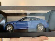 1:18 PARAGON BMW M4 Coupe Has Marine Blue Dealer Edition NEW Minichamps