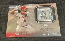 2021 TOPPS SERIES 2 ALBERT PUJOLS 70th ANNIVERSARY LOGO PATCH CARD LIMITED 55/70