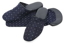 New Men's ITALO FERRETTI Italy Blue Silk/Leather/Suede Slippers 8 US 41 Eu $395