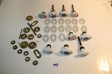 C117 +- 40 pièces de serrures anciennes céramiques circa 1950