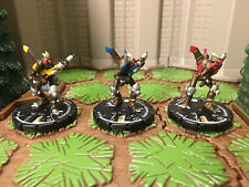 3 Submersible Golem #4, 5, 6 Minions Mage Knight Lot D&D, Pathfinder, RPG