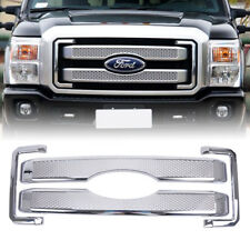 US-Chrome Grill Overlay Bezel Cover for Ford 11-16 F250 F350 F450 F550 Superduty