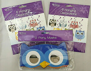 Woodland Animal Cute Owl Hanging Party Decorations Owl Party Masks Party Supply