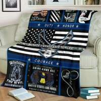 United States Air Force Sofa Fleece Blanket 50-80