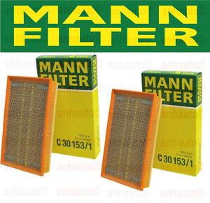 2x Engine Air Filter (Pair) Left+Right BMW 2006 750i 750Li 760i 760Li MANN