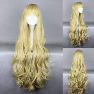 Ladieshair Cosplay Wig Perücke blond 90cm lockig Karneval Halloween A7T