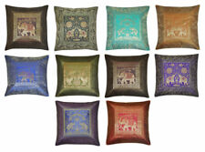 """10 Pc Lot Square Cushion Cover,Indian Silk Brocade Pillow Cover Home Decor 16""""In"""