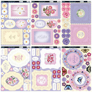 Kanban kit Forever Floral - die cut paper craft toppers, cardmaking, floral